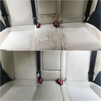 crème bekleding reinigen auto